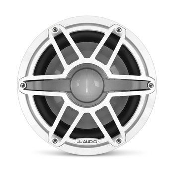 JL Audio 10-Inch M6 Marine Subwoofer, Gloss White, Sport Grille - SKU: M6-10W-S-GwGw-4
