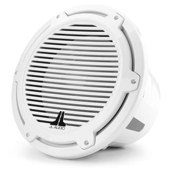 JL Audio 12-Inch M7 Marine Infinite Baffle Subwoofer, Gloss White, Classic Grille - SKU: M7-12IB-C-GwGw-4