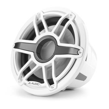 JL Audio 12-Inch M7 Marine Infinite Baffle Subwoofer, Gloss White, Sport Grille - SKU: M7-12IB-S-GwGw-4