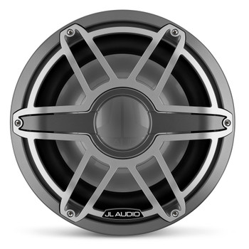 JL Audio 12-Inch M7 Marine Infinite Baffle Subwoofer, Gunmetal & Titanium, Sport Grille - SKU: M7-12IB-S-GmTi-4