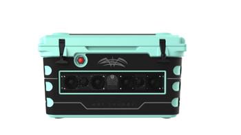 Wet Sounds Stealth SHIVR-55-SFM Seafoam High Output Audio Cooler Speaker System & Gator Step Kit