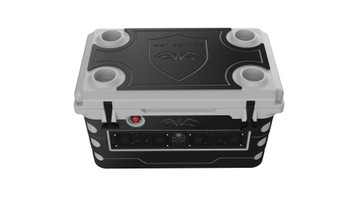 Wet Sounds Stealth SHIVR-55-GRY Gray High Output Audio Cooler Speaker System & Gator Step Kit