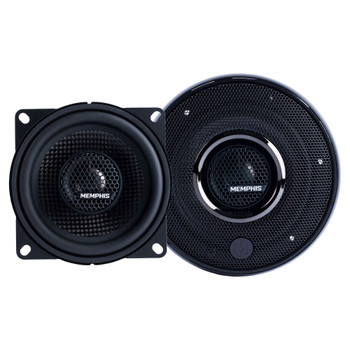 """Memphis Audio 15-MCX4 4"""" Coaxial Speakers With In-line Crossover - Pair"""