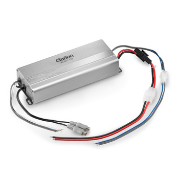 Clarion XC2110 Compact Mono Subwoofer Amplifier Rated Power (1% THD+N, 14.4V):  200W x 1 @ 4 ohms / 300W x 1 @ 2 ohms Features: variable Low-Pass Filter and variable Bass Boost
