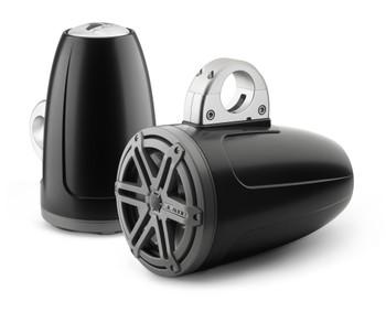JL Audio MX770-ETXv3-SG-TK MX 7.7-inch Wake Tower Coaxial Speakers - Sport Titanium Grill w/ Satin Black Enclosures