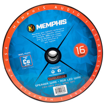 Memphis Audio SW16LED120 6-Conductor Multifunction Cable - 16AWG Speaker Wire + RGB LED 120ft.