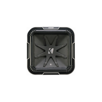 Kicker L712 Q-Class 12-Inch (30cm) Square Subwoofer, Dual Voice Coil 4-Ohm - Used Very Good