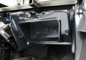 "SSV Works RZ4-GB10U - Polaris RZR Turbo S and XP1000 2019+ Glove Box Sub Box for 10"" Subwoofers - Used Very Good"