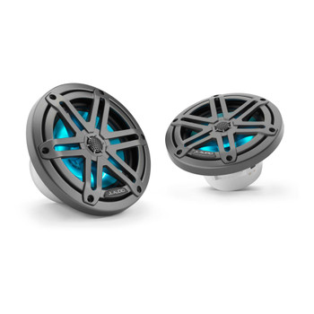 "JL Audio M3-650X-S-Gm-i - M3 6.5"" Marine Coaxial Speakers (pair) - LED Gunmetal Sport Grilles - Open Box"