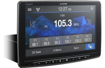 "Alpine iLX-F259 HALO9 9"" AM/FM/audio/video Receiver w/ 9-inch Touch Screen and Mech-less Design - Single-DIN Mounting - Used Good"