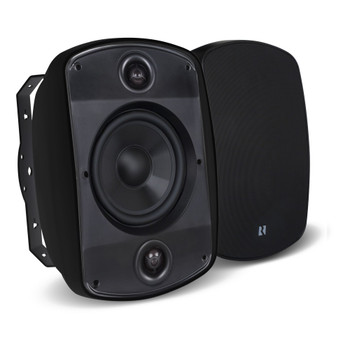 "Russound 5B65S-B 6.5"" 2-Way, OutBack Indoor/Outdoor Single Point Stereo Speaker in Black - (Sold Individually) - Open Box"