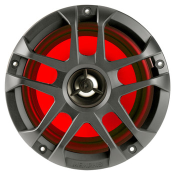 "Memphis Audio LED Marine Speaker Pack: 2 Pairs of MXA60L 6.5"" Marine Grade, Included Black and White Grills With RGB LED"