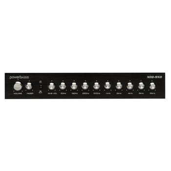 PowerBass XEQ-9XO - 1/2 Din 9 Band PreAmplifier / Equalizer