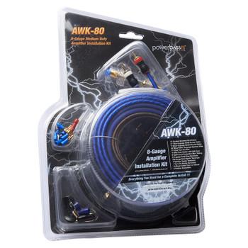 PowerBass AWK-80 - 8 Gauge A/S Complete Amplifier Wiring Kit