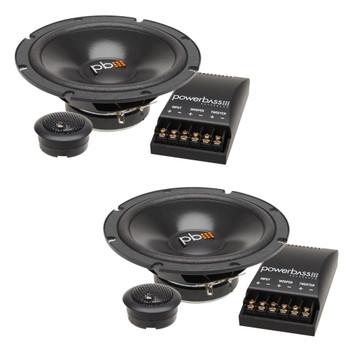 "PowerBass S-60C - 6.5"" Component OEM Replacement Speaker - Pair"