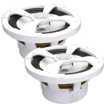 """PowerBass XL-82M - 8"""" Marine Coaxial Speakers with RGB LED - Pair"""