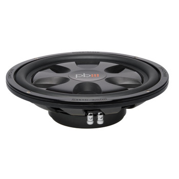 "PowerBass S-12T - 12"" Single 4-Ohm Shallow Mount Subwoofer"