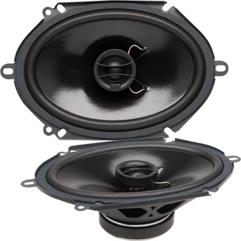 """PowerBass S-6802 - 6x8"""" Coaxial OEM Replacement Speakers - Pair"""