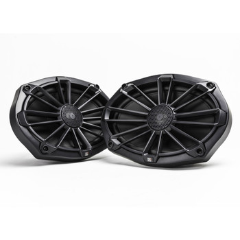 """MB Quart Bundle- 2 Pairs of NP1-169 6x9"""" Premium Marine Speakers (Black Frame with Black, Silver and White Grills Included)"""