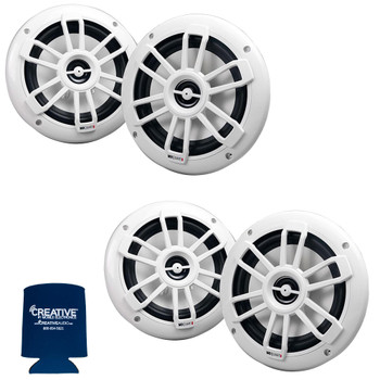 "MB Quart Bundle- 2 Pairs of NF1-116 6.5"" Marine Speakers (White)"