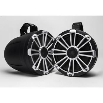 "MB Quart Bundle- 2 Pair NP1-116 Premium Waterproof 6.5 Inch Marine Speakers with 1 Pair NPT1-120 8"" Tower Speakers Premium Marine Speakers (Black Frame with Black, Silver and White Grills Included)"