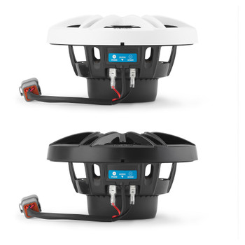 Clarion CMS-651RGB-SWB 6.5-inch Coaxial Marine Speakers with built-in RGB illumination 30W RMS power handling 1/2-inch (13 mm) polymer dome tweeter Includes White & Black Sport Grilles