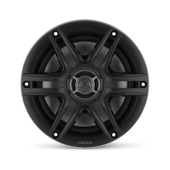 Clarion CMS-651-SWB 6.5-inch Coaxial Marine Speakers 30W RMS power handling 1/2-inch (13 mm) polymer dome tweeter Includes White & Black Sport Grilles