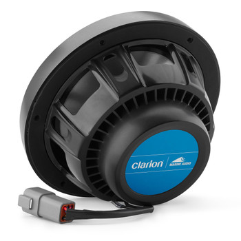Clarion CMSP-771RGB-SWG 7.7-inch Coaxial Marine Speakers  with built-in RGB illumination 60W RMS power handling 1-inch (25 mm) silk dome tweeter Includes White & Gunmetal Sport Grilles