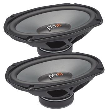 """PowerBass L2-690D - L-Series 6""""x9"""" 4-Ohm Dual Voice Coil Midrange Speakers"""