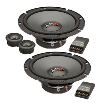 "PowerBass L2-6C - 6.5"" Component Speaker 2-Ohm - Pair"