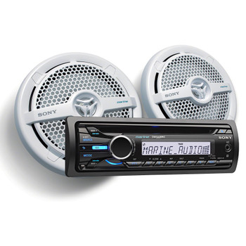 Sony CXS-M2016 In-dash AM/FM, CD, MP3, WMA Receiver and Speaker Packagewith Remote