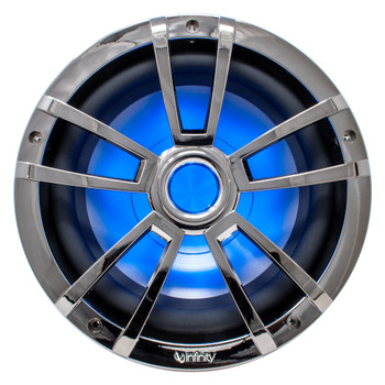 Infinity 10MBLCR 10-Inch OEM Replacement Marine RGB LED Subwoofer - Chrome