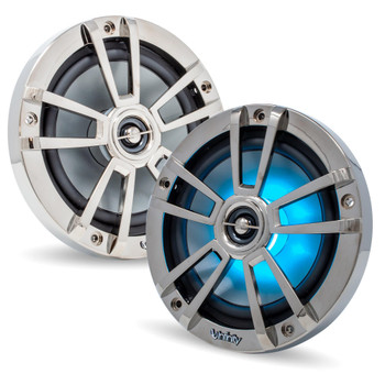 Infinity 6MBLCR Marine 6.5-Inch OEM Replacement RGB LED Coaxial Speakers, Pair - Chrome