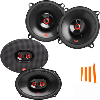 """JBL Compatible With Dodge Ram 94-09, A pair of CLUB-9632AM 6x9"""" Three Way Speakers and A pair of CLUB-522FAM 5.25"""" Coax Speakers"""