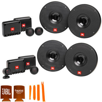 """JBL 1 pair of CLUB-602CAM 6.5"""" Component Speakers and 1 pair of CLUB-602CTPAM 6.5"""" Component Speakers with Tweeter Pods"""