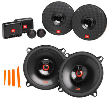 """JBL 1 pair of CLUB-602CAM 6.5"""" Component Speakers and 1 pair of CLUB-522FAM 5.25"""" Coax Speakers"""