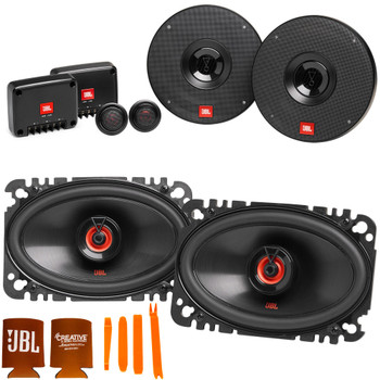 """JBL 1 pair of CLUB-602CAM 6.5"""" Component Speakers and 1 pair of CLUB-6422FAM 4x6"""" Coax Speakers"""