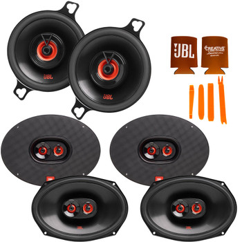 """JBL Compatible With Dodge Ram 09-20 - 2-Pairs of CLUB-9632AM 6x9"""" Three Way Speakers And a pair of CLUB-322FAM 3.5"""" Coax Speakers"""