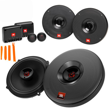 """JBL 1 Pair of CLUB-602CAM 6.5"""" Component Speakers and 1 Pair of CLUB-625AM 6.5"""" Coax Speakers"""