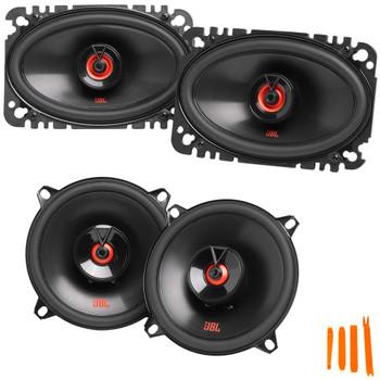 "JBL 1 Pair of CLUB-522FAM 5.25"" Coax Speakers and 1 Pair of CLUB-6422FAM 4x6"" Coax Speakers"