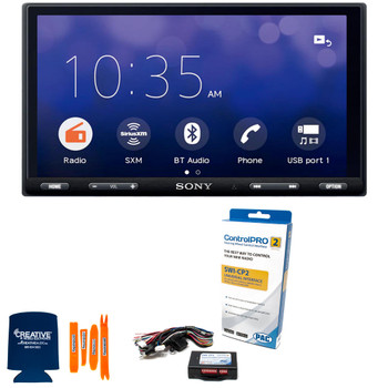 "Sony XAV-AX5500 6.95"" (17.6-cm) BLUETOOTH® Media Receiver with PAC Audio SWI-CP2 Universal Analog/CAN-Bus Steering Wheel Control Interface"