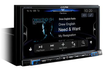 "Alpine INE-W987HD 7-Inch Nav Receiver + PAC RPK4-FD2101 2015+ Ford Truck W/8"" Screen Installation Kit Bundle"