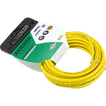 Kicker 47KMWPY820 Marine 8awg Power Wire, 20ft, Yellow