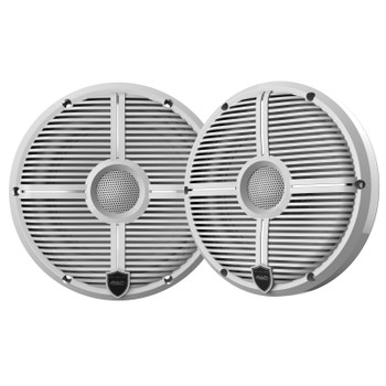 "Wet Sounds Recon6-XWW 6.5"" White Grill Marine Speakers with SSV RG4-F65U Ranger XP1000 2018 and up Front Speaker Pods"