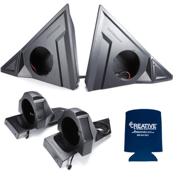 "SSV Polaris Slingshot SS-F65U 6.5"" Front Unloaded Speaker Pods with SS-B65U Rear 6.5"" Unloaded Speaker Pods"