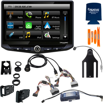 Stinger Stereo System compatible with Jeep Wrangler JK (2011-2018): 10-Inch Touchscreen Radio; Includes Dash Kit & Interface, With Back Up Camera