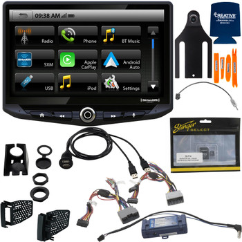 Stinger Jeep Wrangler JK (2011-2018) Stereo Replacement System: 10-Inch Touchscreen Radio; Includes Dash Kit & Interface, With Jeep Back Up Camera, And Igo Navigation SD Card