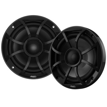 "Wet Sounds Recon6-BG 6.5"" Black Grill Marine Speakers with SSV GN-F65U Front Speaker Pods  Compatible With Polaris General 2016-2018"
