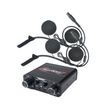 NavAtlas NIRIH4 4 Person Powersports Front Rear Intercom In Helmet Bundle 1 NNT10 Intercom, 4 NH100 In-Helmet Headsets
