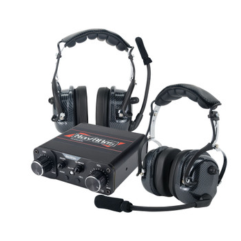 NavAtlas NIROH4 4 Person Powersports Over the Head Headset Bundle 1 NNT10 Intercom, 4 NO300 Headsets Front and Rear